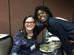 Me and Christian Robinson at the Kids' Table